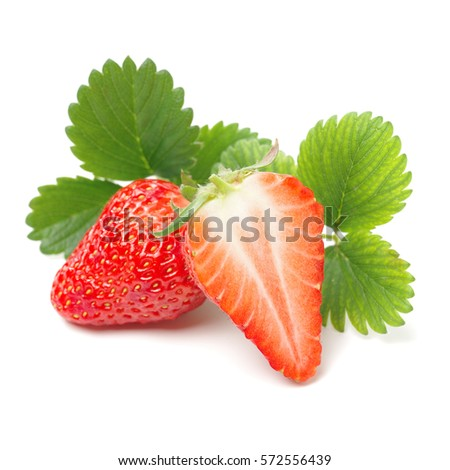 strawberry isolated over white background