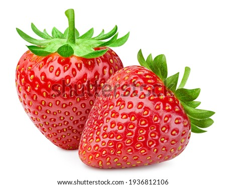 Strawberry isolated. Strawberry on white. Full depth of field. With clipping path