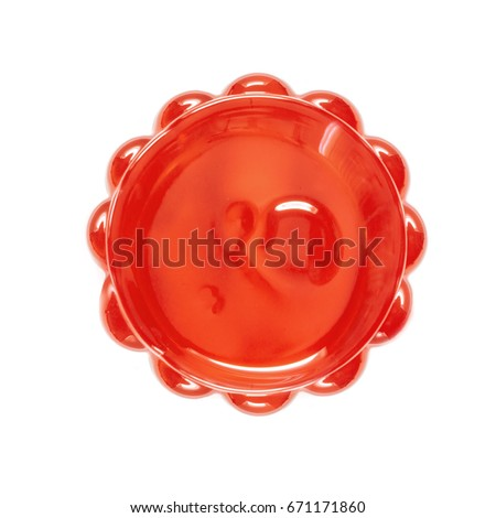 Strawberry jelly isolated on white background. Top view. Stock photo ©