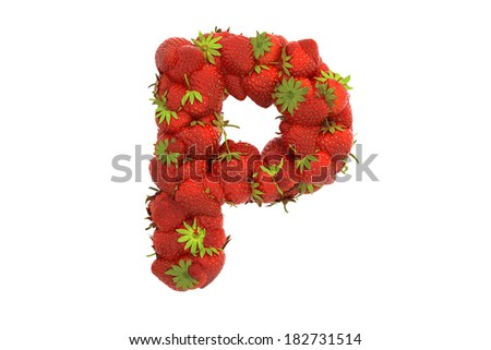 Strawberry letter P