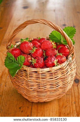 Strawberry on the basket