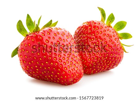 strawberry path isolated on white