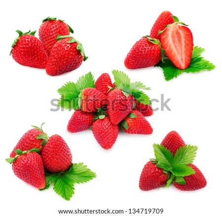 strawberry set for your design