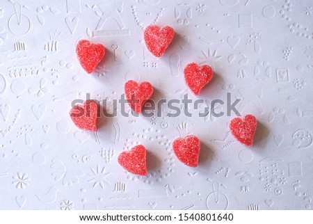 strawberry shaped heart shaped jelly candies #1540801640