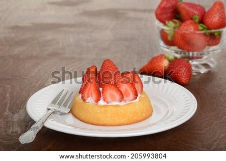 strawberry shortcake on a plate