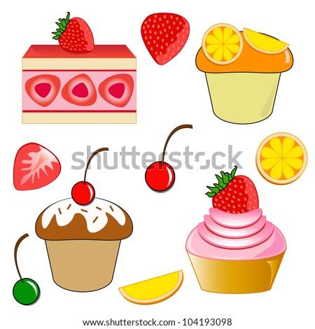 Strawberry shortcake. Strawberry cupcake. Chocolate cherry cupcake and ...