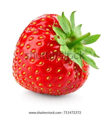 Strawberry. Strawberry isolated on white background. #711472372