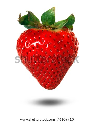 strawberry with drop shadow