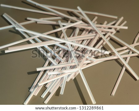 Straws for drinks. Straws for drinks close-up. #1312289861