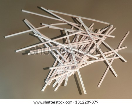 Straws for drinks. Straws for drinks close-up. #1312289879