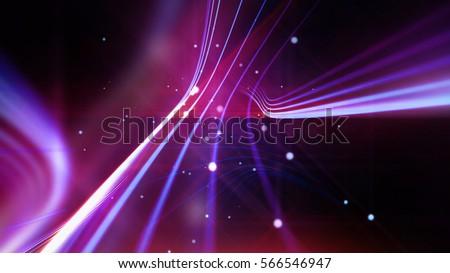 Streaking shiny violet and purple lines as abstract background for business, science, technology or entertainment theme