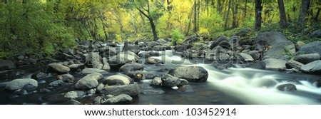 Stream in Cottonwood Canyon, Sedona, Arizona