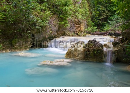 Stream in tropical forest. Thailand, Kanchanaburi Province.