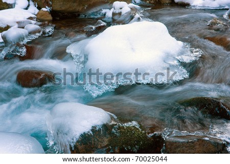 stream in winter time