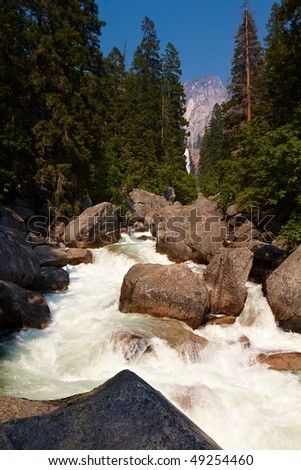 Stream in Yosemite Valley, Yosemite National Park, California, USA