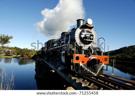 Stream train - stock photo