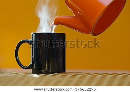 Streamin hot tea cup