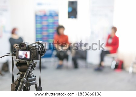streaming video on conference debate Photo stock ©