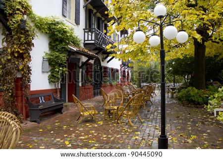 Street cafe restaurant , hotel
