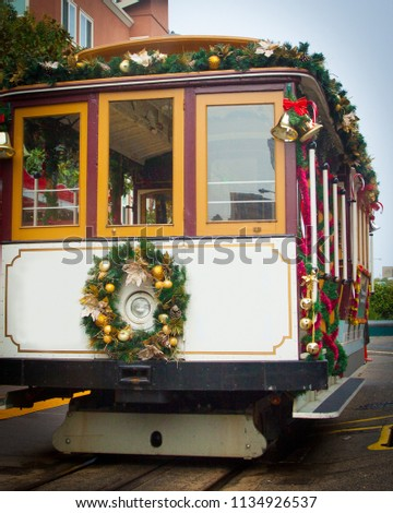 street car during the holidays...