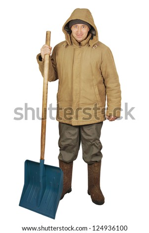 Street cleaner with a big spade