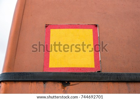 Street direction pointer without signs and symbols #744692701