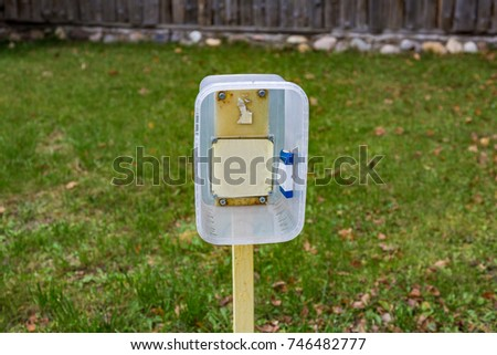 Street direction pointer without signs and symbols #746482777