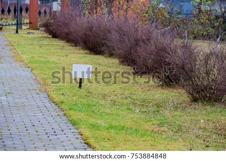 Street direction pointer without signs and symbols #753884848