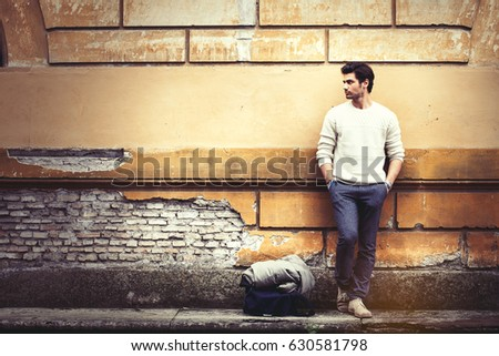 street fashion model tourist...