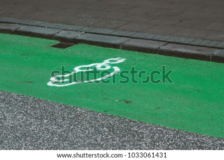 Street icon for electro mobile charging #1033061431