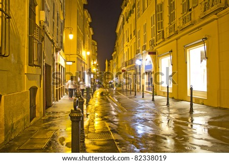 Street in Aix-en-Provence, south of France