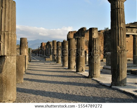 Street in ancient Pompei Italy
