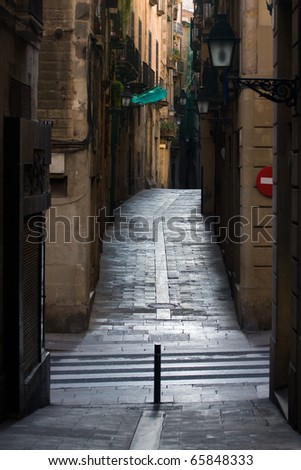 Street in Barcelona.