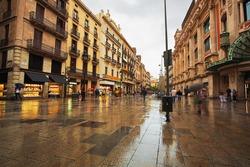 street in Barcelona. Spain.