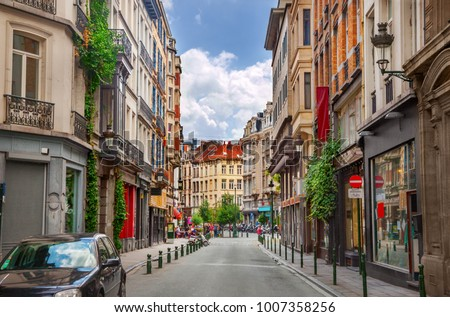 Street in Brussels Stockfoto ©