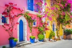 Street in Kefalonia, Greece