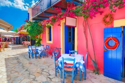 Street in Kefalonia island, Greece
