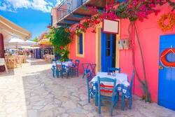 Street in Kefalonia island, Greece