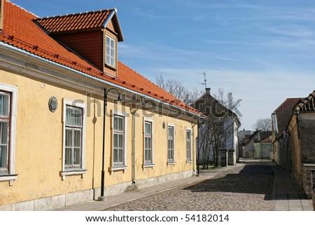 Street in Kuressaare (Saaremaa island, Estonia, Europe)