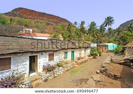 Shutterstock Street in Santiago island, Cape Verde Archipelago