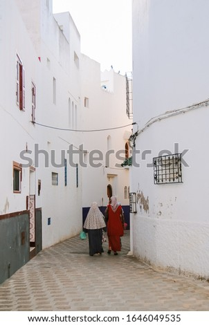 Street in the ancient medina of Asilah, northern Morocco