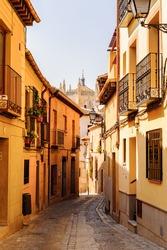 Street in the Old city of Toledo, Spain, UNESCO World Heritage