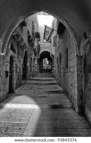 street in the old Jerusalem
