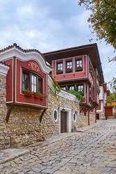 Street in the Old Plovdiv, Bulgaria