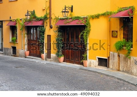 Street in Verona in Italy - stock photo