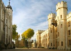 Street inside the Tower of London, London, England