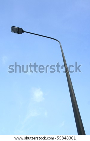 Street lamp and blue sky