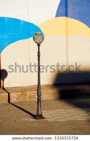 street lamp in the street