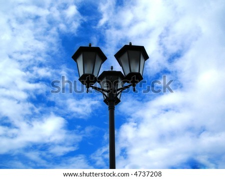 street lamp on background sky