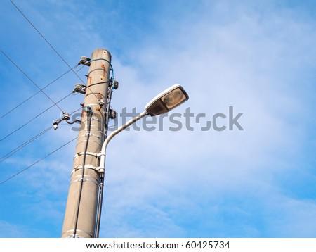 street-lamp on blue sky background